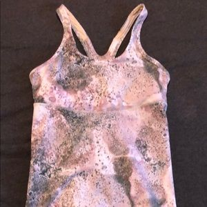 Lululemon Crossback Tank 8 sugar crush multi